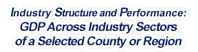 Rhode Island - Gross Domestic Product Across Industry Sectors of a Selected County or Region